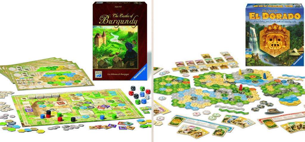 Castles of Burgundy and Quest for El Dorado Games