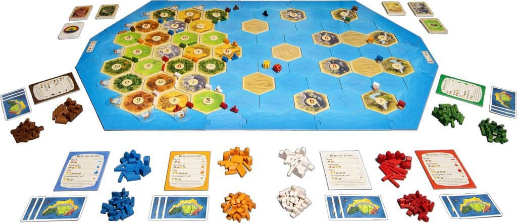 Catan Seafarers Expansion Components