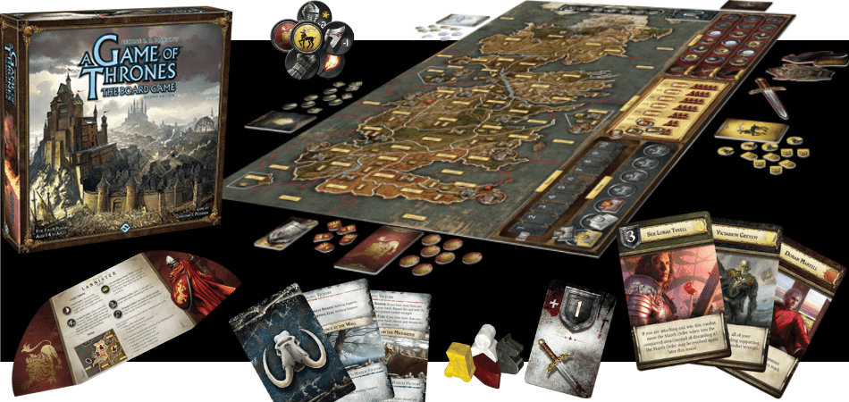 A Game of Thrones Board Game Components