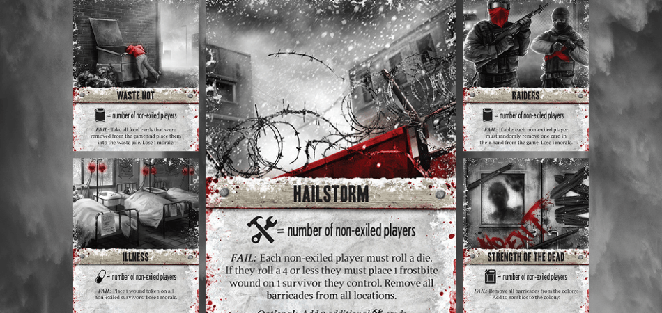 Dead of Winter Board Game Cards