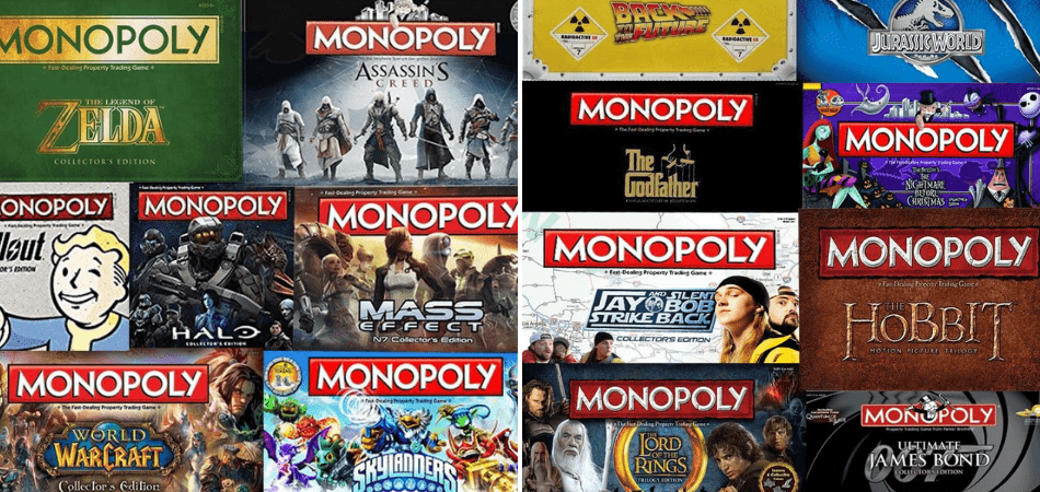 Monopoly Movie and Video Game Versions