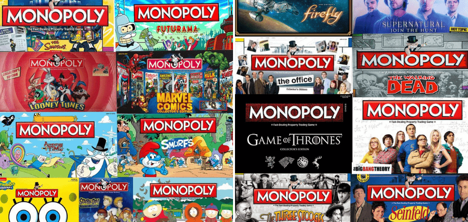 Monopoly TV Show Versions