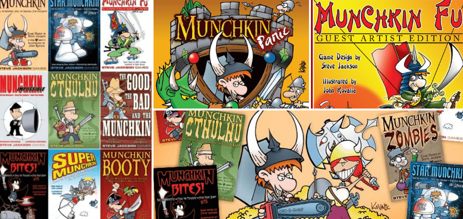 Lots of versions of Munchkin