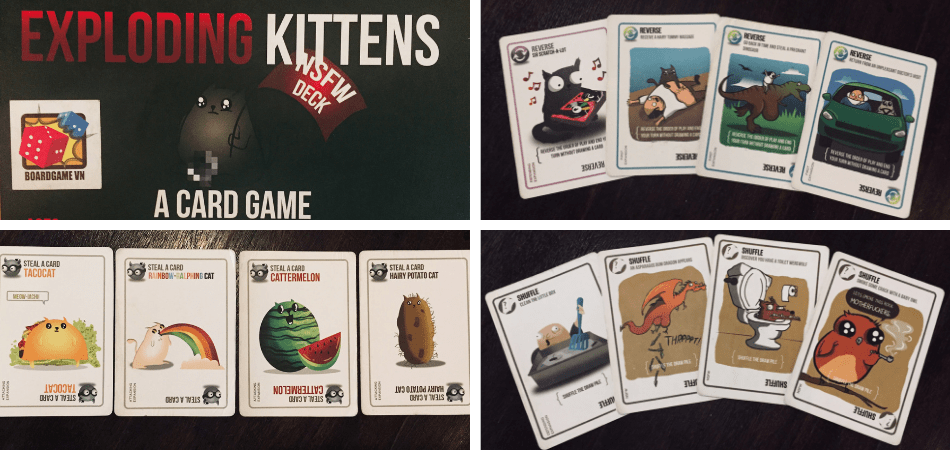 NSFW Exploding Kittens Box and Cards