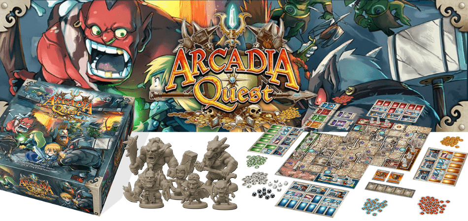 Arcadia Quest Dungeon-Crawl Board Game