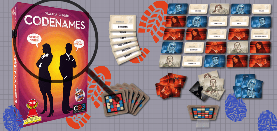 Codenames 6-Player Board Game
