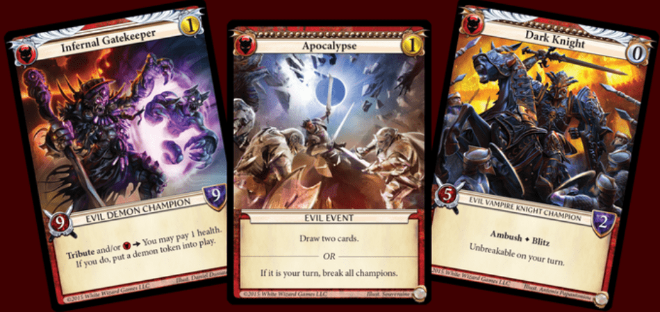 Epic Card Game Evil Examples