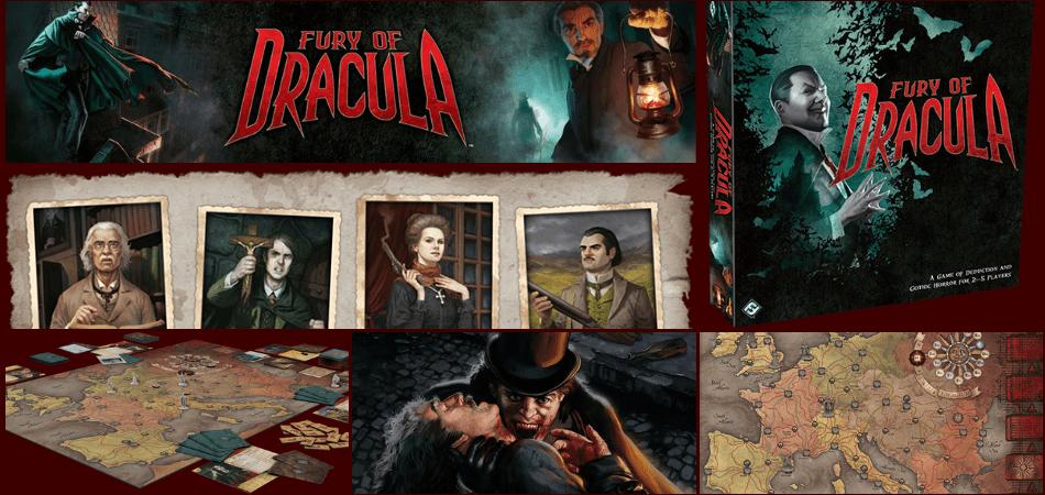Fury of Dracula 3-Player Board Game