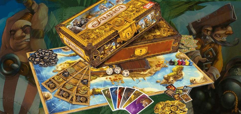 Jamaica pirate Board Game box and art