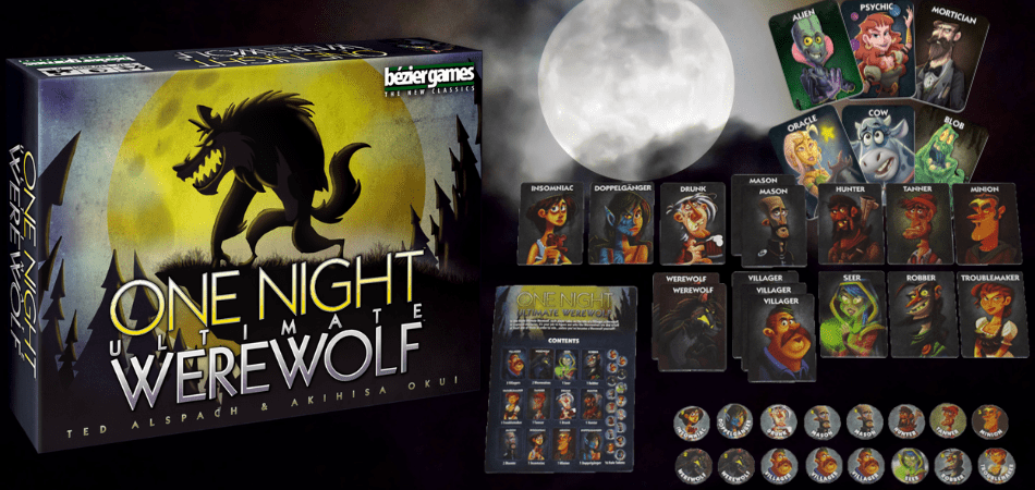 One Night Ultimate Werewolf 6-Player Board Game