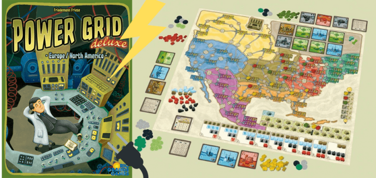 Power Grid 6-Player Board Game
