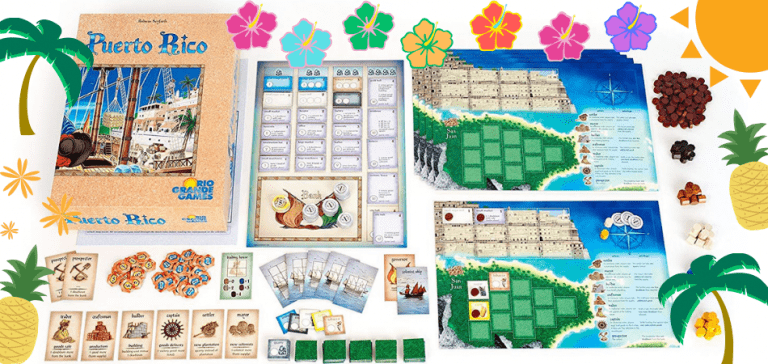 Puerto Rico 3-Player Board Game