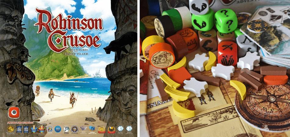 Robinson Crusoe 3-Player Board Game