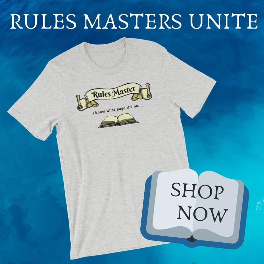 Rules Masters Unite T-Shirt Promo
