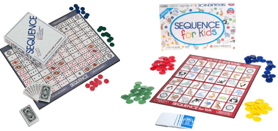 Sequence and Sequence for Kids Board Games Box and Board