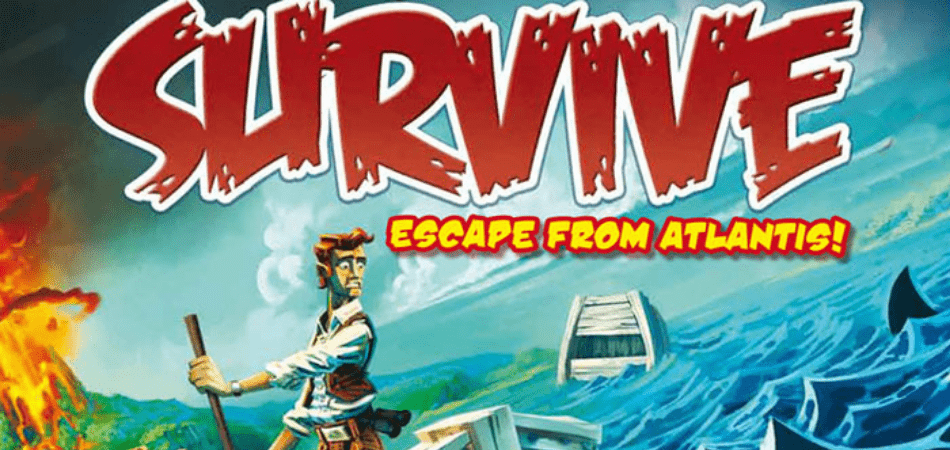 Survive! Escape From Atlantis Family Board Game
