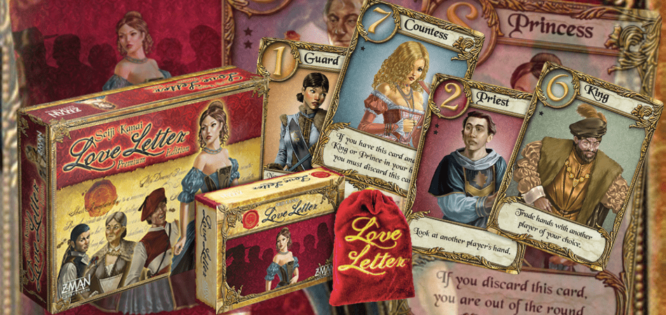 Love Letter card game components