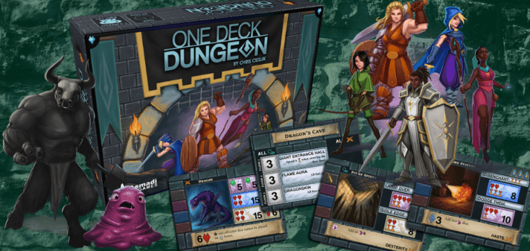 One Deck Dungeon Single Player Board Game