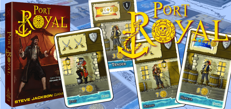 Port Royal pirate Board Game box and cards