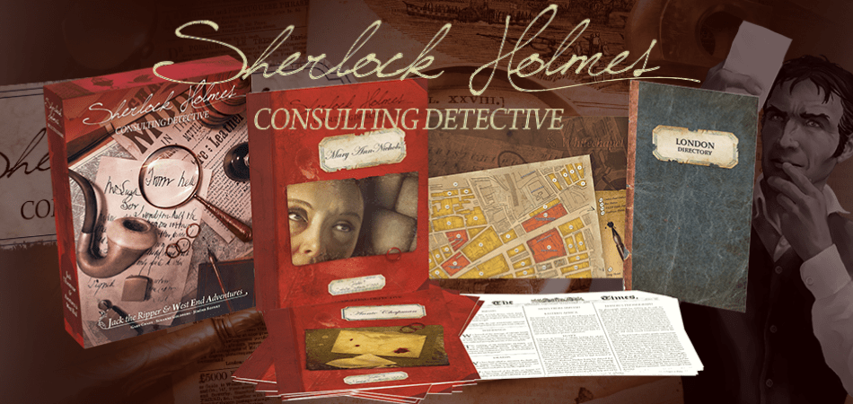 Sherlock Holmes Consulting Detective Single Player Board Game