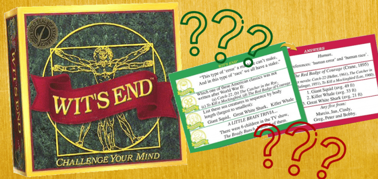 Wit's End Educational Board Game