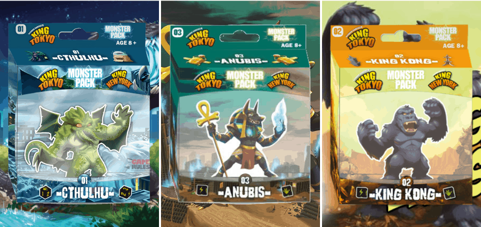 King of Tokyo Monster Packs