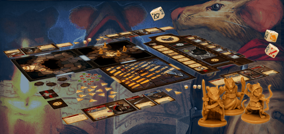Mice and Mystics Board Setup