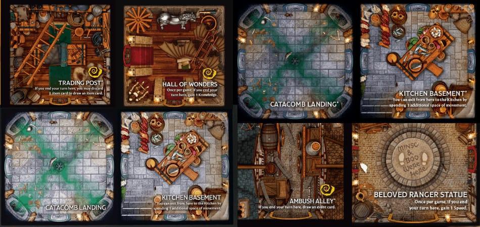 Betrayal at Baldur's Gate Room Tiles