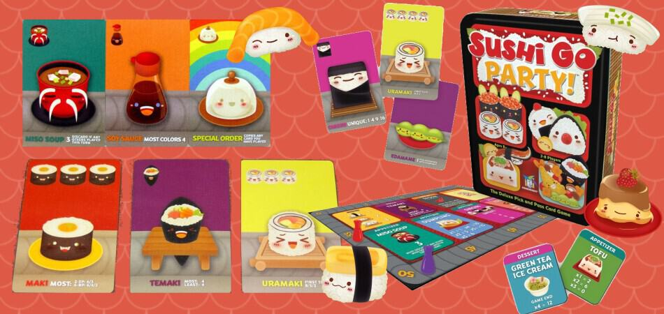Sushi Go! Party Board Game