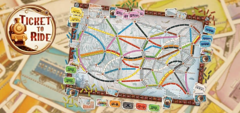 Ticket to Ride Board Game Setup