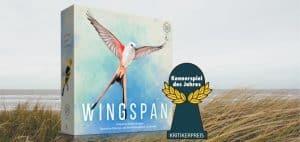 wingspan board game box and award