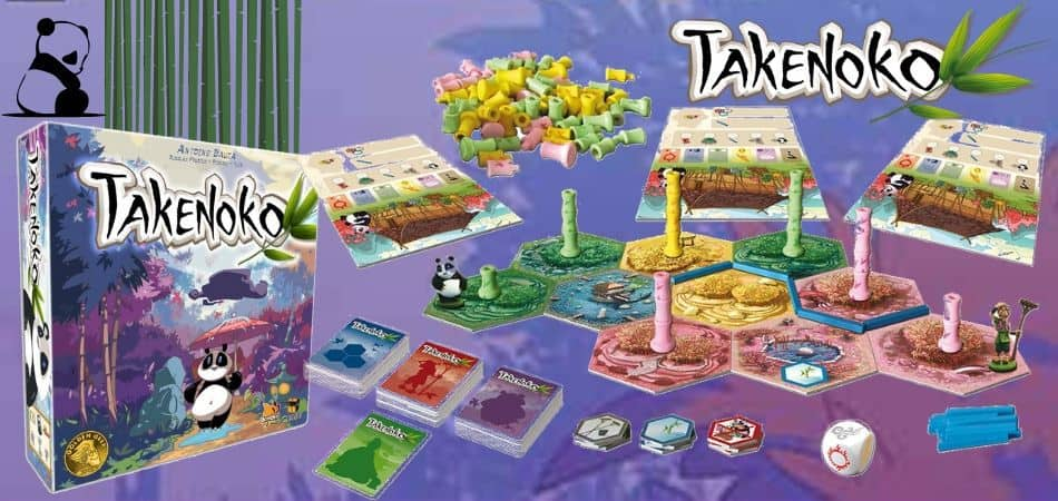 Takenoko Board Game Components