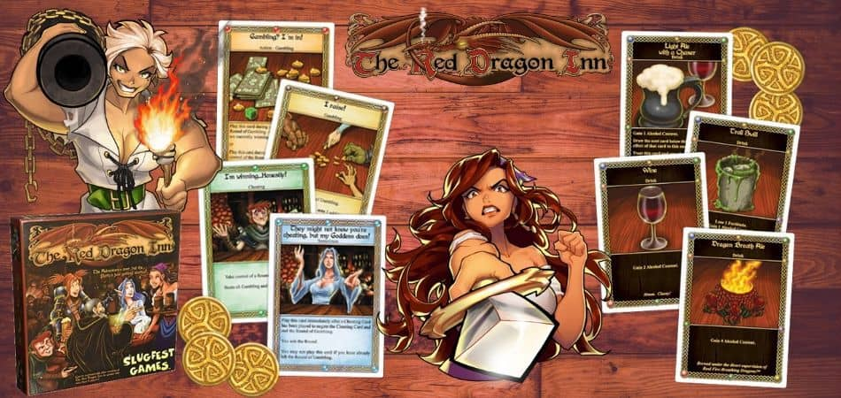 The Red Dragon Inn Board Game Cards