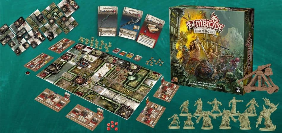 Zombicide: Green Horde Board Game Components