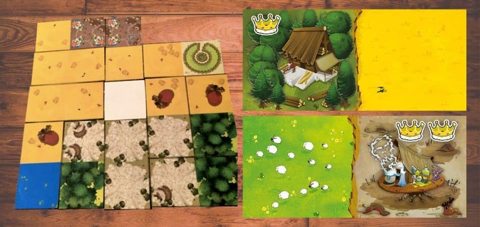 Kingdomino Board Game Components