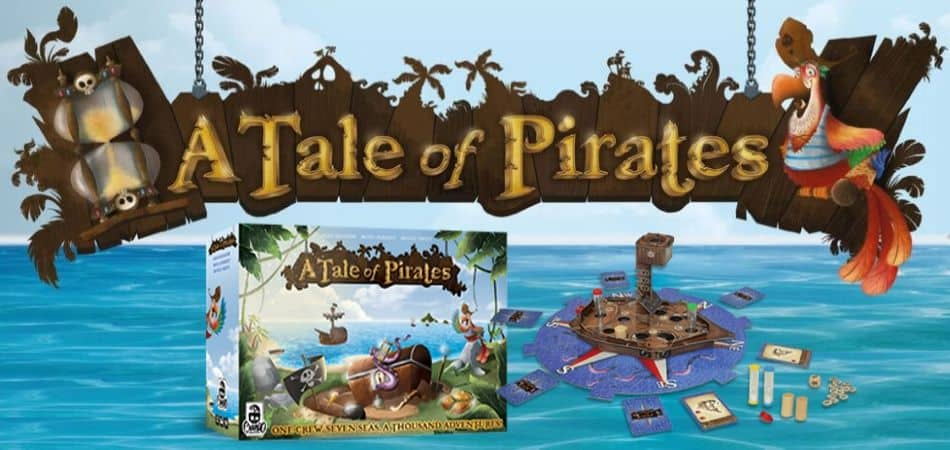 A Tale of Pirates Board Game box and art