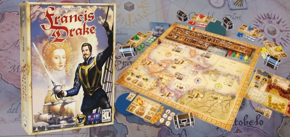 Francis Drake Board Game Box and Board