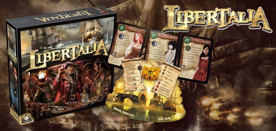Libertalia Board Game box and cards