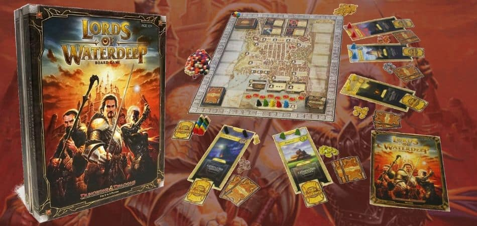 Lords of Waterdeep Board Game Components