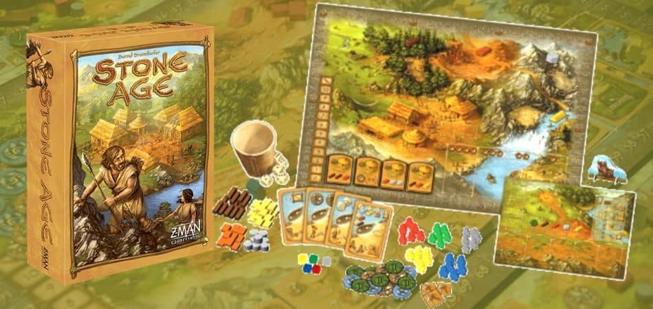 Stone Age Board Game Components