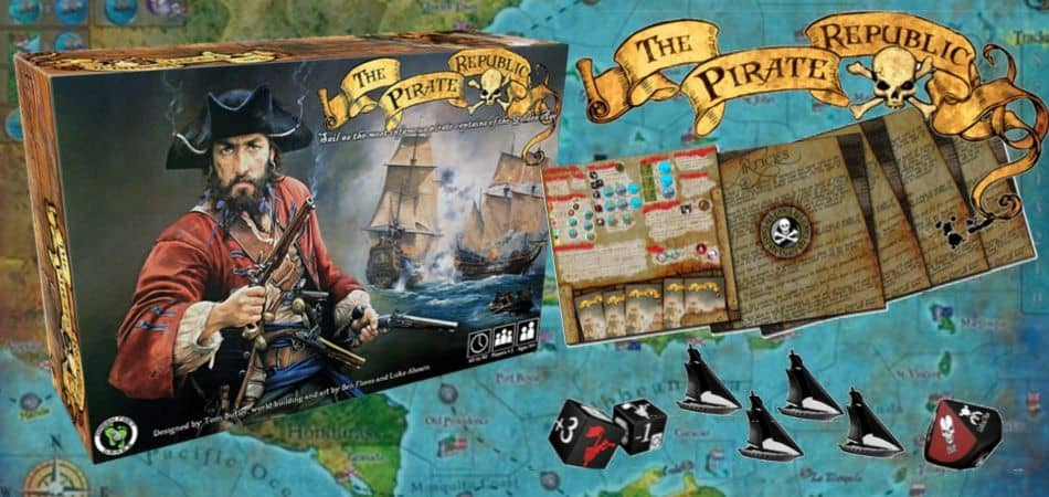 The Pirate Republic Board Game box and components