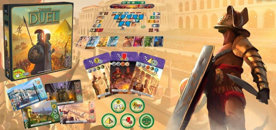 7 Wonders Duel Board Game Unboxing