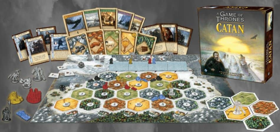 A Game of Thrones Catan: Brotherhood of the Watch Components