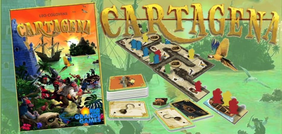Cartagena Board Game box and cards