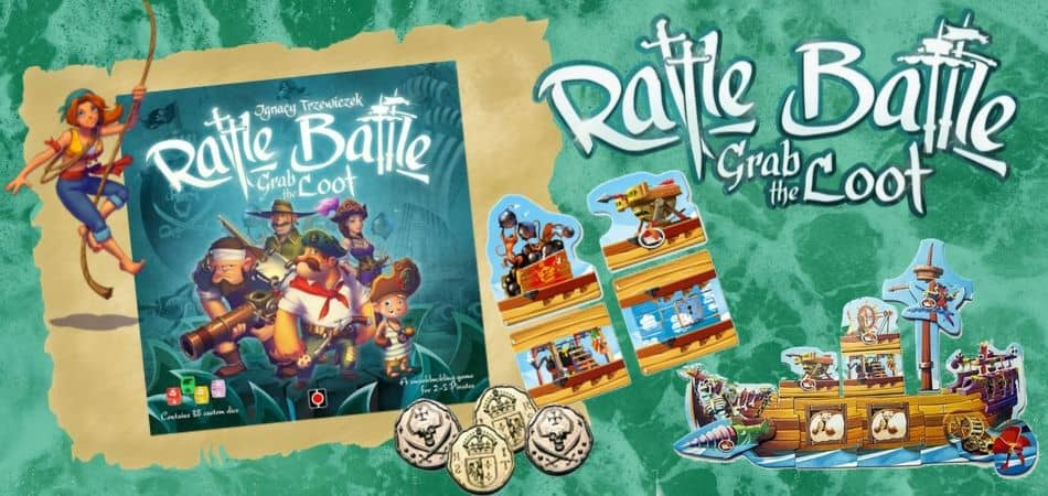 Rattle, Battle, Grab the Loot Board Game