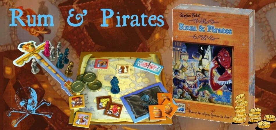 Rum & Pirates Board Game box and board