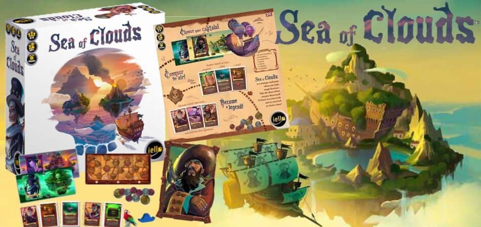 Sea of Clouds pirate Board Game box and art