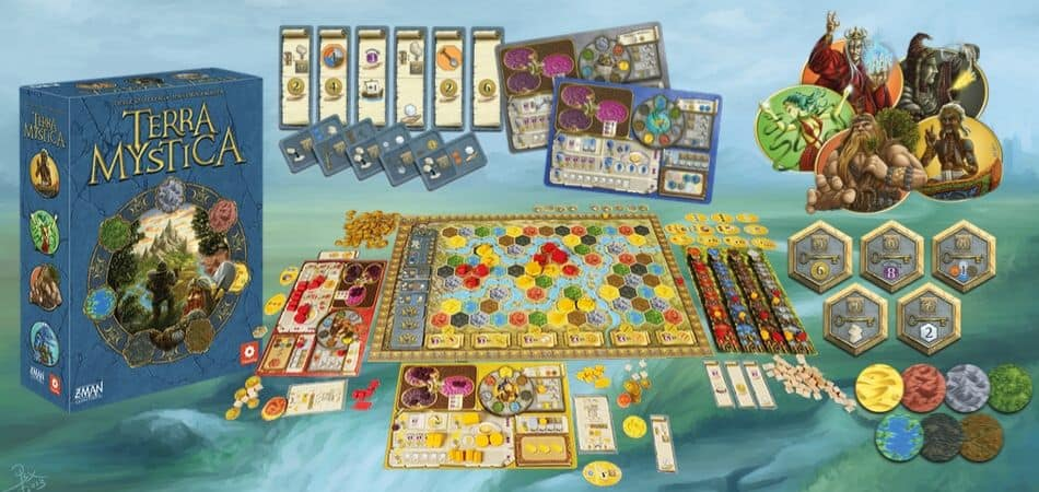 Terra Mystica Board Game Components