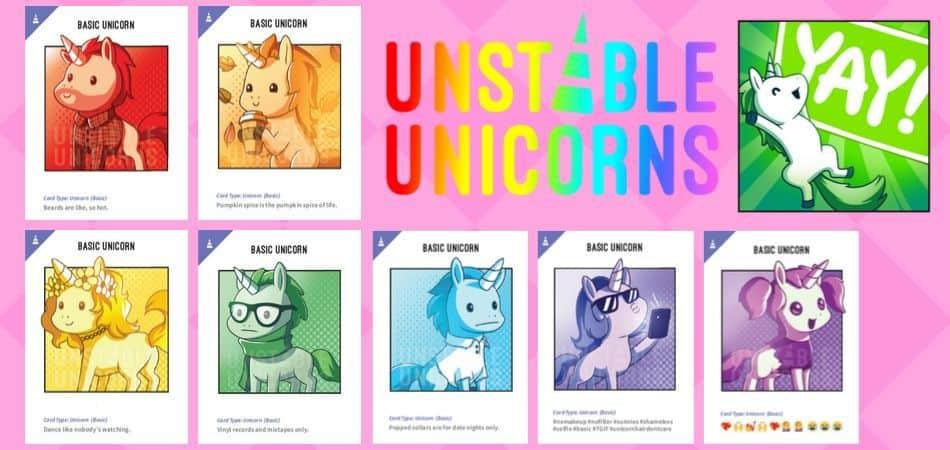 Unstable Unicorns Card Game - Basic Unicorns