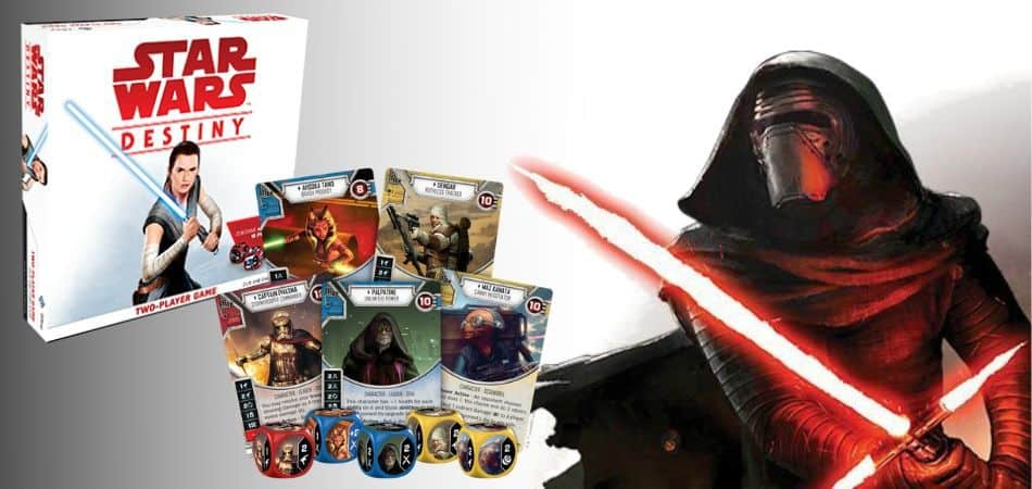 Star Wars Destiny Board Game Box and Cards